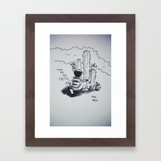 Don't pet the Cactus Framed Art Print