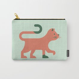 Orange Minimal Cat Carry-All Pouch