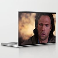 sam winchester Laptop & iPad Skins featuring Sam by Mel Hampson