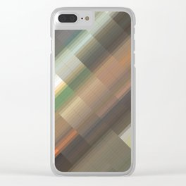 Gloomy evening. Abstract gradient art geometric background with soft color tone, cell grid. Ideal fo Clear iPhone Case