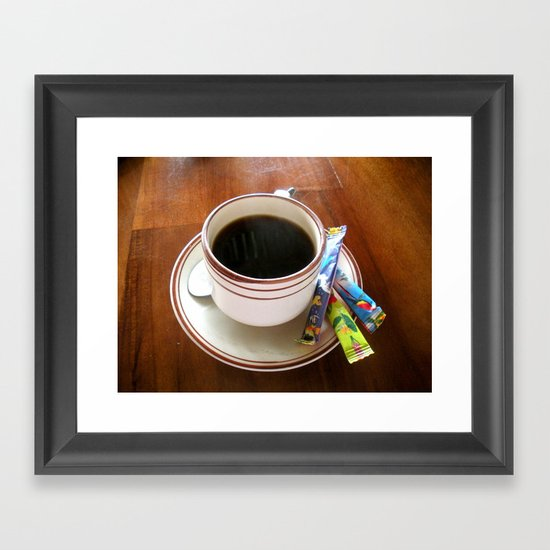 Perfect Cup of Joe Framed Art Print