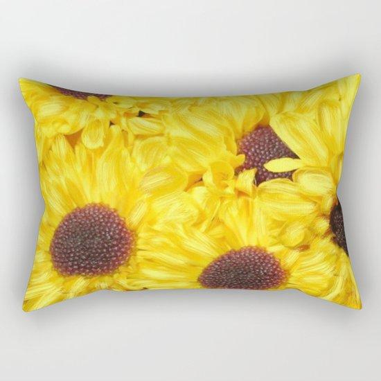 Painterly Yellow Sunflowers Rectangular Pillow