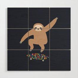 Sloth Gravity Wood Wall Art