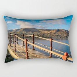 Padarn Lake Footbridge Rectangular Pillow