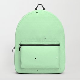Black points an green background Backpack