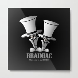 Brainiac (White) Metal Print