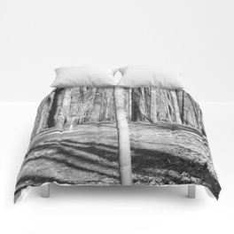 Black And White Disc Golf Basket Comforters