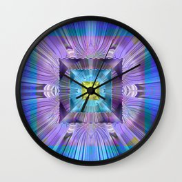 Power Meditation Mandala Feng Shui Wealth Attractor Wall Clock
