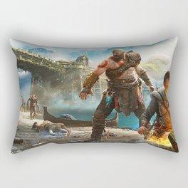 Kratos and Atreus Adventure Rectangular Pillow
