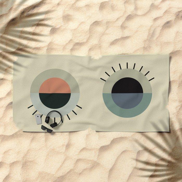 day eye night eye Beach Towel