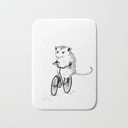 Opossums bike, too Bath Mat
