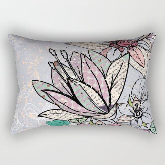 Paper Flowers #3 Rectangular Pillow