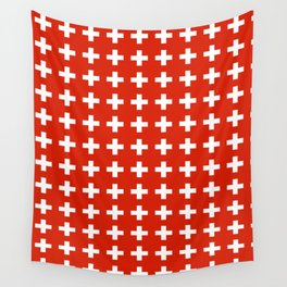 flag of switzerland 2-Switzerland, Alps,swiss,Schweizer,suisse,zurich,bern,geneva Wall Tapestry