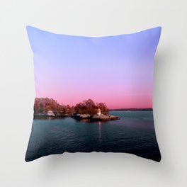 Sunset Over The Island Throw Pillow