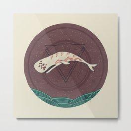 The Devil Roams These Waters Metal Print