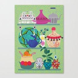 Orientl helf Canvas Print