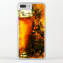 refreshing yeast wheat beer splatter watercolor Clear iPhone Case
