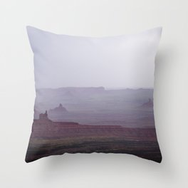 Rain in the Valley of the Gods Throw Pillow