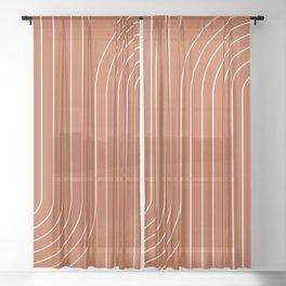 Minimal Line Curvature IX Sheer Curtain