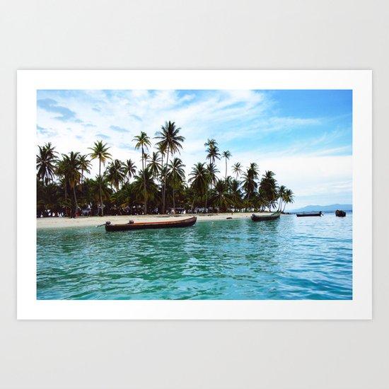 san blas tropical island Art Print