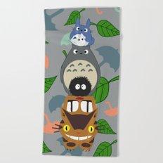 Troll Totem Beach Towel