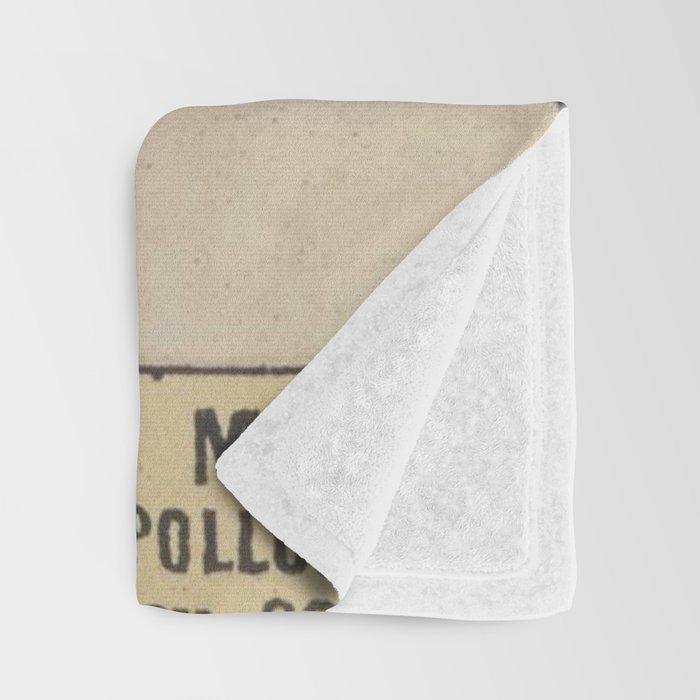 Vintage French Sun Tarot Card Throw Blanket
