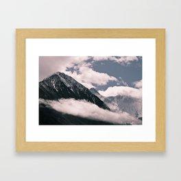 dancing clouds Framed Art Print