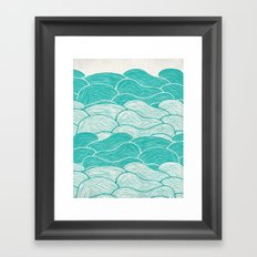 The Calm and Stormy Seas Framed Art Print