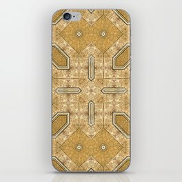 Victorian Art Deco Medieval Pattern light brown SB20 iPhone Skin