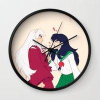 viria Wall Clocks featuring SIT BOY by viria