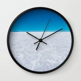 Wide Open Spaces, Salar de Uyuni Salt Flat, Bolivia Wall Clock