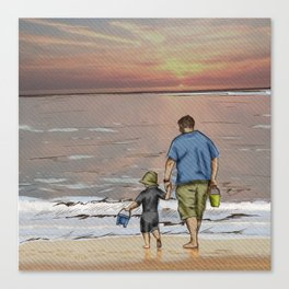 Father and Son - Seasonal Skies Canvas Print