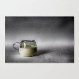 Still life with a cup of milk Canvas Print