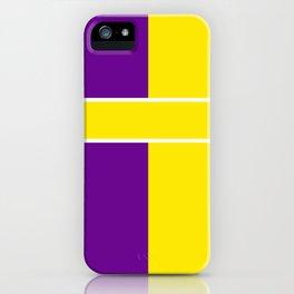 Team Colors 6....Yellow,purple iPhone Case