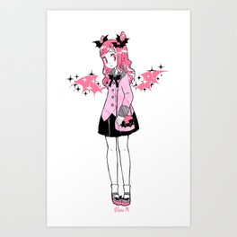 Wings of Pink Glitter Art Print