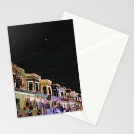 Christmas lights on 34th Street, Hampden | Baltimore, Maryland Stationery Cards