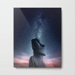Moai statue Metal Print