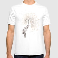 The Call MEDIUM White Mens Fitted Tee