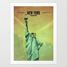 New York // Fallout Inspired Poster, Fallout Print, Video Game Art, Gamer Print Art Print