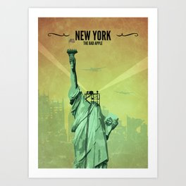New York // Fallout Inspired Poster, Fallout Print, Video Game Art, Gamer Print Art Print