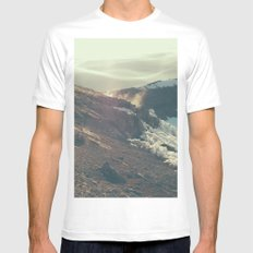Fourteen Four Eleven White MEDIUM Mens Fitted Tee