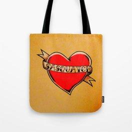 My Heart Belongs to Sasquatch Tote Bag