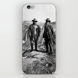 Teddy Roosevelt and John Muir - Glacier Point Yosemite Valley - 1903 iPhone Skin