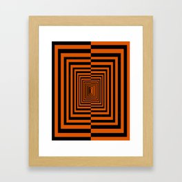Spooky Tunnel Framed Art Print