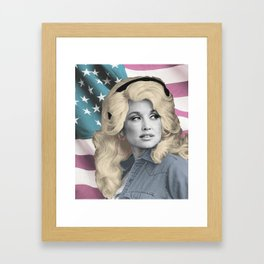 Americana Dolly Framed Art Print