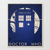 doctor who Canvas Prints featuring Doctor Who by LukeMorgan