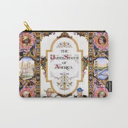 12,000pixel-500dpi - Arthur Szyk - Visual History of Nations, The United States of America Carry-All Pouch
