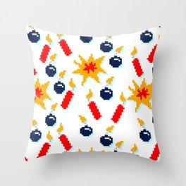 8BitBombzzzz!!! Throw Pillow