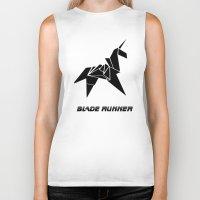 blade runner Biker Tanks featuring Blade Runner - Rachel's Origami by Thecansone