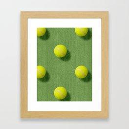 BALLS / Tennis (Grass Court) / Pattern Framed Art Print
